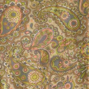 Fabric Paisley Vintage Polyester Sewing Crafts